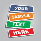 Banners with place for text. Vector illustration Stock Images