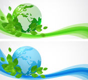 Banners with planet Earth. Stock Photography