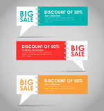 Banners with quote bubble for big sale. Set of banners with a quote bubble for big sales. Vector illustration Royalty Free Stock Image