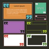 Banners with quotes multicolored rectangular vector eps 10.  Royalty Free Stock Images