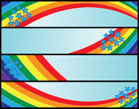 Banners with rainbow Royalty Free Stock Image