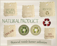 Banners for recycling Royalty Free Stock Images