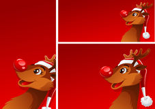 Banners with reindeer Stock Images