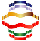 Banners Ribbon set Stock Images