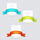 Banners with ribbon Royalty Free Stock Photos