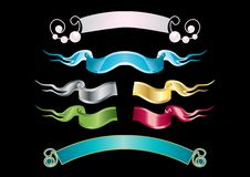 Banners ribbons Stock Photography