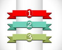 Banners and ribbons Royalty Free Stock Photography