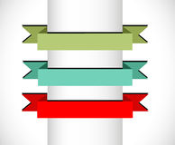 Banners and ribbons Royalty Free Stock Image