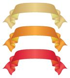 Banners ribbons, set Stock Image