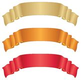 Banners ribbons, set Stock Photos