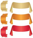 Banners ribbons, set Stock Photography
