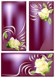 Banners with rose Stock Photography