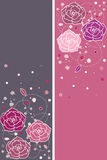 Banners with roses Stock Images