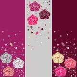 Banners with roses Stock Photo