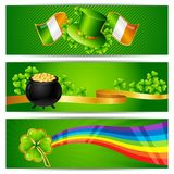 Banners for Saint Patrick's day Royalty Free Stock Images