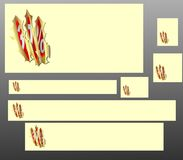 Banners with scratch and discount seal Royalty Free Stock Photo