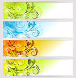 Banners: seasons Stock Photo