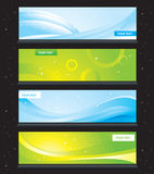 Banners set. 4 fresh banners set. Vector graphic Royalty Free Stock Photography