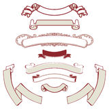Banners set. Retro banners set and ribbons Royalty Free Stock Photography