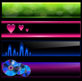 Banners set. Banners, internet backgrounds colorful vector collection Royalty Free Stock Images