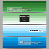 Banners set. Abstract colorful business background, blue and green colors Stock Images