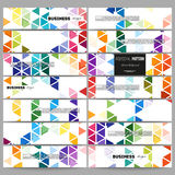 Banners set. Abstract colorful business background, modern stylish hexagonal and triangle vector texture Stock Photo