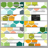 Banners set. Abstract colorful business background, modern stylish hexagonal vector texture Royalty Free Stock Photos