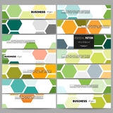 Banners set. Abstract colorful business background, modern stylish hexagonal vector texture Stock Photo