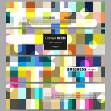 Banners set.  Abstract colorful business background, modern stylish vector texture. Stock Images