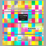 Banners set.  Abstract colorful business background, modern stylish vector texture. Stock Photos