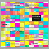 Banners set.  Abstract colorful business background, modern stylish vector texture. Royalty Free Stock Image