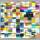 Banners set.  Abstract colorful business background, modern stylish vector texture. Stock Photo