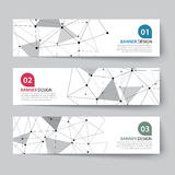 Banners set with abstract wireframe Stock Images