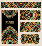 Banners Set With Bright Ethnic Pattern Stock Images