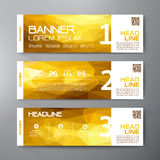 Banners set for business modern design. Polygonal geometric back Royalty Free Stock Photos