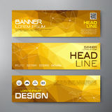 Banners set for business modern design.  Royalty Free Stock Photo