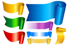 Banners set in colors Stock Images