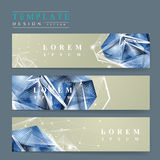 Banners set with diamond element Royalty Free Stock Photo