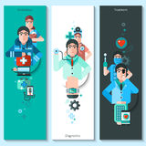Banners Set Of Doctor Characters Stock Images