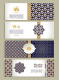 Banners set of ethnic design. Religion abstract set of layout. royalty free illustration