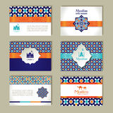 Banners set of ethnic design. Religion abstract set of layout. Banners set of ethnic design. Religion abstract set of layout with ornament Stock Photo