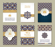 Banners set of ethnic design. Religion abstract set of layout. Royalty Free Stock Images