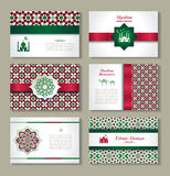 Banners set of ethnic design. Religion abstract set of layout. Banners set of ethnic design. Religion abstract set of layout with ornament Stock Image