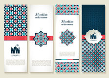 Banners set of ethnic design. Religion abstract set of layout. Royalty Free Stock Photos