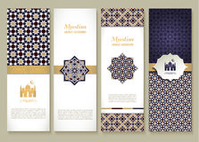 Banners set of ethnic design. Religion abstract set of layout. Royalty Free Stock Image