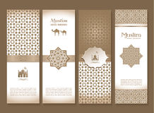 Banners set of ethnic design. Religion abstract set of layout. Banners set of ethnic design. Religion abstract set of layout with ornament Stock Images