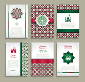 Banners set of ethnic design. Religion abstract set of layout. Royalty Free Stock Photography
