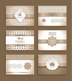Banners set of ethnic design. Religion abstract set of layout. Stock Photos