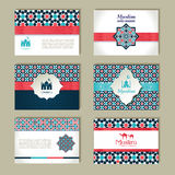 Banners set of ethnic design. Religion abstract set of layout. Royalty Free Stock Photo