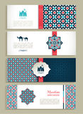 Banners set of ethnic design. Religion abstract set of layout. Stock Image